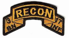 3-17 Infantry Recon Platoon / Scout Platoon Tab / Army Ranger Scroll Tab Style