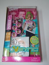 NSYNC #1 Fan 2000 Barbie Doll Blonde #50534 Exclusive Music CD Collectible