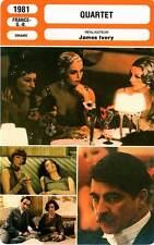 FICHE CINEMA : QUARTET - Bates,Smith,Adjani,Ivory 1981