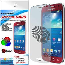 4 Pellicola Opaca Per Samsung Galaxy S4 Mini i9195 Antimpronta Zero Bolle