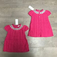 BNWT Ralph Lauren Cable Knit Lambswool & Cotton Dress RRP £100 3-6m 100% Genuine