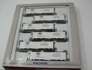 Walthers - 40' Steel Ice Reefer 6-Pack - St Louis Refrigerator Car Co.