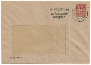 DR 1944 Privatumschlag PU... - 8 Pf.orangebraun,Berlin Städt. Wasserwerke - ...