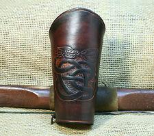 Brassard de Bow CELTIQUE Drache cuir brun manchette GRAVANT en refief Viking