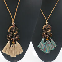 Vintage Boho Women Fashion Jewellery Bohemia Statement Tassel Pendant Necklace