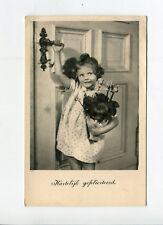 AK süßes junges Mädchen von Tilburg nach Frankfurt a.M. gelaufen Marke 1941