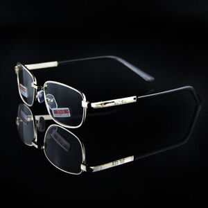 Reading Glasses +4.5 +5.0 +5.5 +6.0 High Presbyopic Eyewear Gold Metal Frame