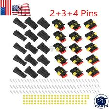 15 Kits Way Car Auto Sealed Waterproof Electrical Wire Connector Plug 2+3+4 Pins