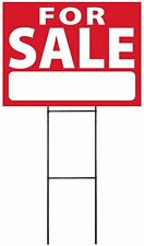 """Large (18""""x24"""") For Sale - Red - Sign Kit with Stand"""