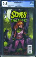 Scooby Apocalypse 1 (DC) CGC 9.8 White Pages Daphne Variant Cover