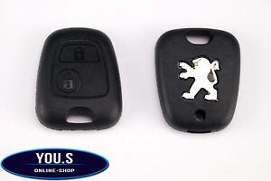 für Peugeot 206 Ersatz 2 Tasten Funk Fernbedienung Schlüssel Gehäuse Hülle