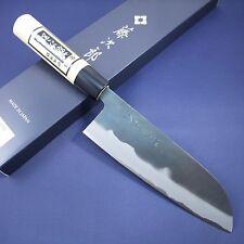 Japanese Santoku Knife TOJIRO Black Finished White Steel Shirogami Made in Japan