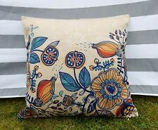 Floral Pattern Cushion Cover, Designer, Retro, 1960, 1970, Woodland, mid-century