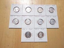 1970 1971 1972 1973 74 -1977 1978 1979 S Jefferson Nickel 10 Proof Coin Set Lot