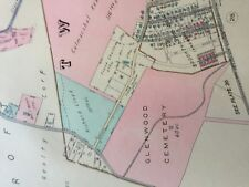 1942 Delaware Co Pa Marple Twp Foxcroft Brookthorpe Hill Station Atlas Map
