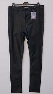 BNWT DOROTHY PERKINS 'Frankie' Ladies Black Coated Super Skinny Jeans UK 16L