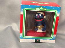 Sesame Street Ornament Grover in Christmas Boot 1998 Kurk S. Adler has Box