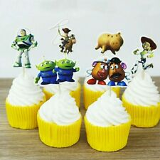 24 Pcs, Toy Story Cupcake Toppers Kids Birthday Party Supplies.