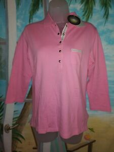 DAILY SPORTS Golf Polo Shirt, Womens Size M, pink , Half Sleeve, Stretch, NWT