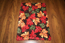 New Fall Autumn Leaf Leaves Fleece Dog Cat Pet Carrier Blanket Pad Free S/H! Bcr