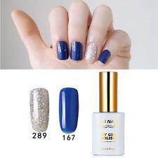 2 PIECES RS 167_289 Gel Nail Polish UV LED Blue Sliver Soak Off 15ml New Stock
