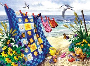 SEASIDE SUMMER Nancy Wernersbach SunsOut 500+ LARGER PIECE puzzle EZ grasp - NEW