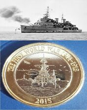 2015 Two Pounds Royal Navy UK £2 Coin Rare Collectable HMS Belfast BU