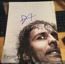 WWE dean ambrose la frange lunatique nxt main signé poster photo wrestling WWF