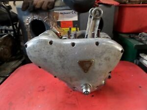 TRIUMPH 6T 650 PRE UNIT MATCHING CASES ENGINE BOTTOM END & MAG  1955 TIDY