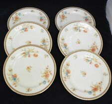 "6 Vintage Bavaria Tirschenreuth Essex 4262 8"" Salad or Luncheon Plates 1950's"