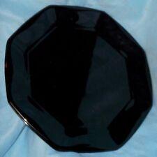 "Arcoroc France Novoctime Octime BLACK 13"" Octagonal Glass Chop Platter"