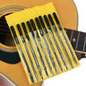 10 LUTHIER NEEDLE FILE SET Guitar Bass Mandolin Nut Slot Fret Dressing Tool