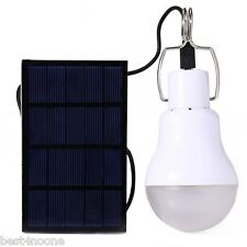 US Portable Solar Panel Power LED Light Bulb Outdoor Hanging Camp Garden  Lamp