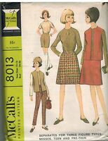8013 Vintage McCalls Sewing Pattern Misses Blouse Skirt Jacket Pants Shorts OOP