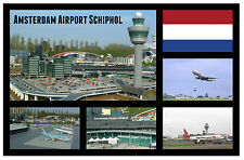 AMSTERDAM, AIRPORT, SCHIPHOL - SOUVENIR NOVELTY FRIDGE MAGNET - SIGHTS / GIFTS
