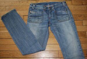 DIESEL Jeans pour Femme W 28 - L 32 Taille Fr 38 KEATE (Réf #O105)