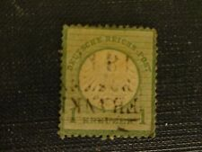 Germany 1872 Small Shield 1K Yellow-Green Used SG8