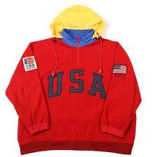 RARE Vintage POLO RALPH LAUREN USA Quarter-Zip Fleece Pullover Sweatshirt Jacket