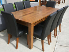 Country Dining Furniture Sets with 9 Pieces