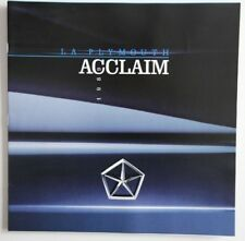 Plymouth Acclaim 1989 dealer brochure catalog - French - Canada