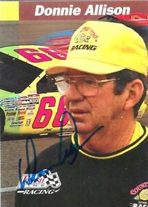 DONNIE ALLISON  -  Autographed -  1993 Finish Line Racing - Card #63     [t85]