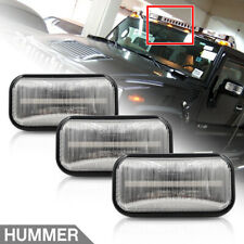 3Pcs Front Amber LED Cab Roof Light for Hummer H2 03-09 Clear Clearance Top Lamp