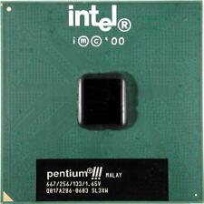 Intel Pentium 3 III 667MHz CPU coppermine 133MHz FSB 256KB level 2 cache SL3XW