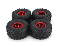 1/10 Rc Monster Truck Blue Wheels & Tires Set for Ecx Ruckus 4wd and 2wd
