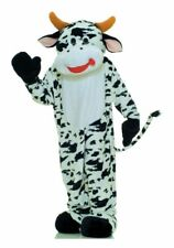 Moo Cow Mascot Adult Comical Deluxe Costume Jumpsuit Halloween Forum Novelties