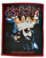 NAPALM DEATH  ( fear, emptiness,despair ) red outline WOVEN PATCH