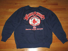 1986 Boston Red Sox WORLD SERIES (LG) Sweatshirt American League Champions BLUE