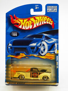Hot Wheels '40 Ford Truck Harley Davidson 2001 New Free Shipping