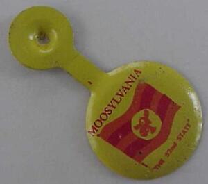 1960s Rocky & Bullwinkle Moosylvania 52nd State tab- Bought from Jay Ward widow!