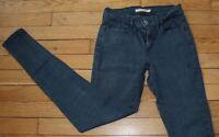 LEVIS 710 Super Skinny Jeans pour Femme W 27 - L 30 Taille Fr 36 (Réf #S055)